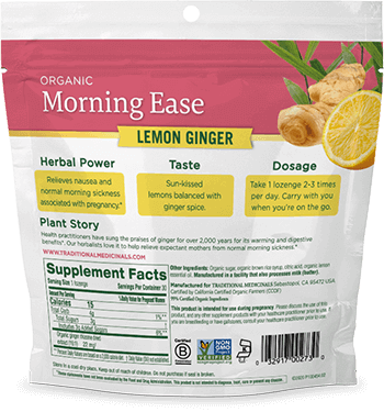image of Morning Ease Lemon Ginger Lozenges