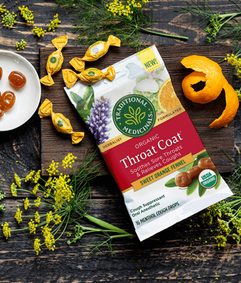 image of Throat Coat® Sweet Orange Fennel Lozenges