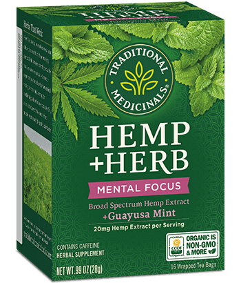 image of Hemp+Herb Mental Focus Guayusa Mint